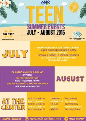 Teen Center SummerEvents
